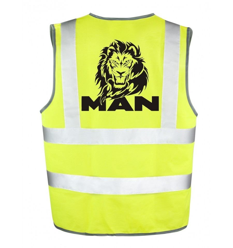 gilet jaune lion man haute visibilit obligatoire. Black Bedroom Furniture Sets. Home Design Ideas