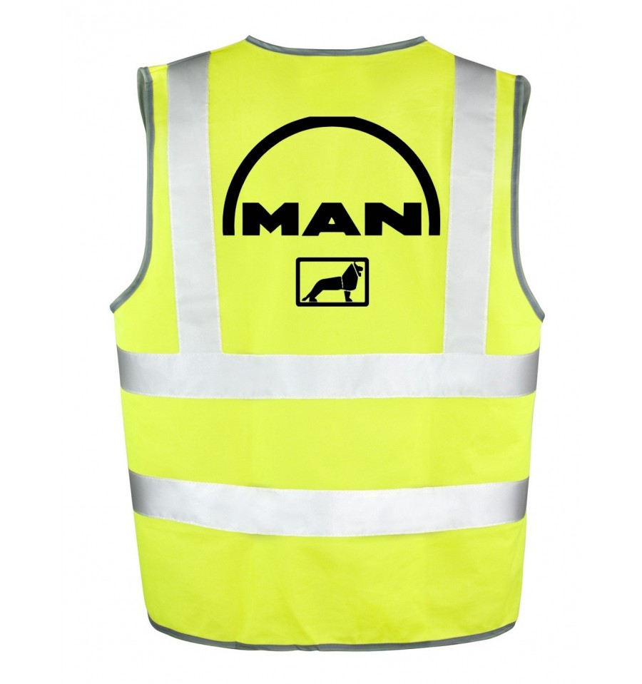 gilet jaune logo man gilet de s curit jaune homologu. Black Bedroom Furniture Sets. Home Design Ideas