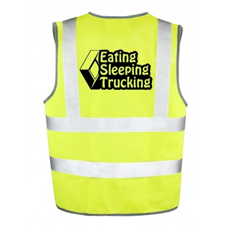 Gilet Jaune Renault eating sleeping trucking