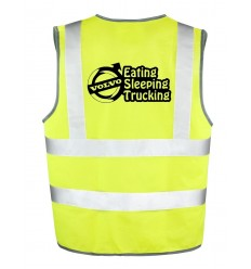 Gilet Jaune Volvo eating sleeping trucking