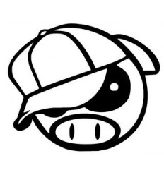 Stickers JDM Pig Cap