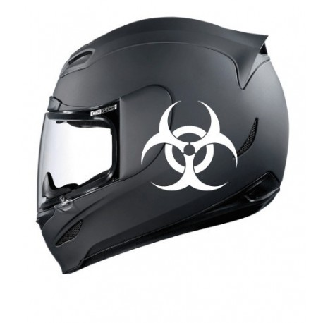 Stickers casque Biohazard