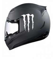 Stickers casque Monster