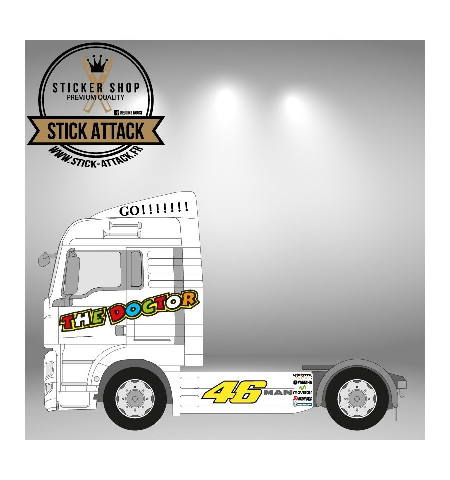 Stickers kit the doctor man tgx xlx kit d co camion for Sticker exterieur