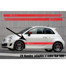 Stickers bandes latérales Fiat 500 Abarth Logo