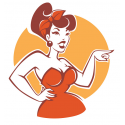 Stickers Pin Up